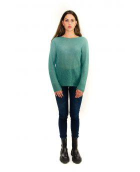 Mohair Pullover-Verde-Grün-Taglia Unica