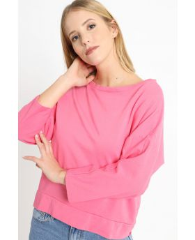 Sweatshirt Smile-Fuchsia-Pink-Taglia Unica
