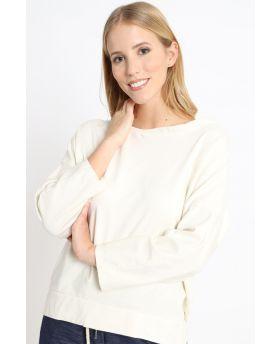 Sweatshirt Smile-Beige-Taglia Unica