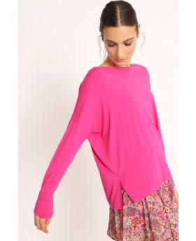 Shirt Kimono-Fuchsia-Pink-Taglia Unica