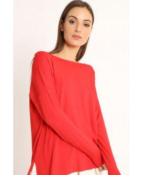 Shirt Kimono-Rosso-Rot-Taglia Unica