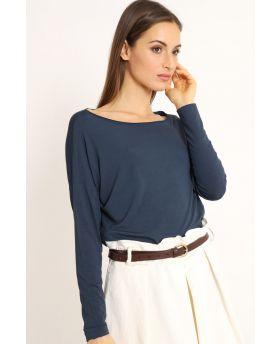 Shirt Kimono-Blu-Blau-Taglia Unica