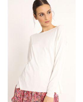 Shirt Kimono-Bianco-Weiss-Taglia Unica