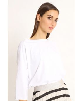 Shirt Raglan Over-Bianco-Weiss-Taglia Unica