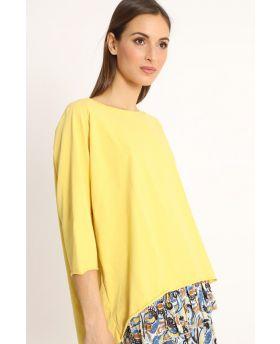 Shirt Raglan Over-Giallo-Gelb-Taglia Unica