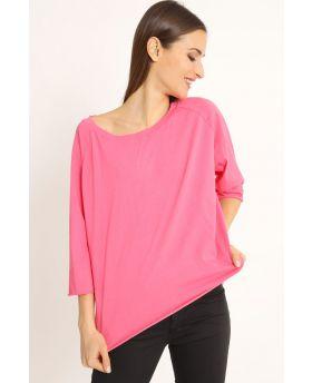 Shirt Raglan Over-Fuchsia-Pink-Taglia Unica