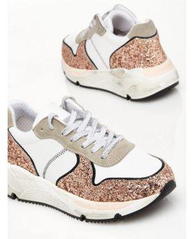 Sneaker Glitter-Platin-37