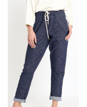Sweathose Indigo-Denim-Jeans-XS