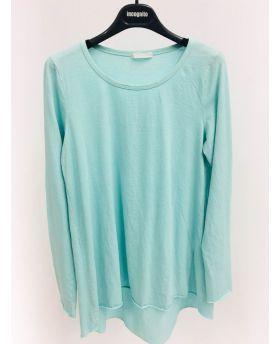 Longshirt A-Form, Stufensaum