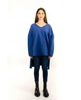 Felpa Spacchi-Blu-Blau-Taglia Unica