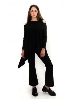 Damen Pullover Spalia-Nero-Schwarz-S-M