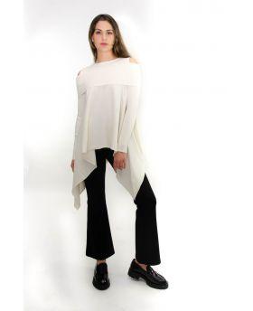 Damen Pullover Spalia-Bianco-Weiss-S-M