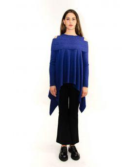 Damen Pullover Spalia-Blu-Blau-S-M