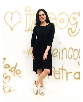Kleid A-Form Stufensaum-Beige-Taglia Unica
