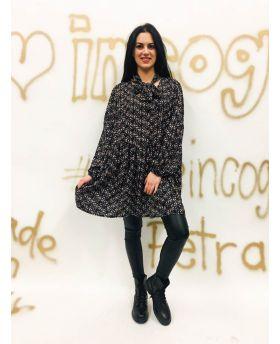 Kleid Fiori Schleife-Rosa-Taglia Unica
