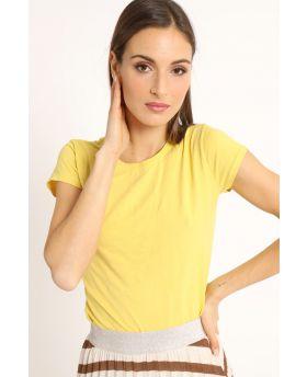 T-Shirt Barchetta-Giallo-Gelb-Taglia Unica