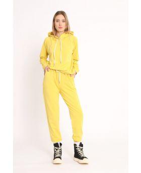 Sweatshirt & Hose 2 teilig-Giallo-Gelb-Taglia Unica