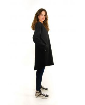 Sweat Kleid Cotton-Nero-Schwarz-Taglia Unica